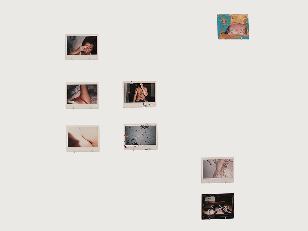 "ANGELE LEBERT ""Angele in 8 Fucking Little Pieces"", polaroids, 4½"" x 3½"", 2015"