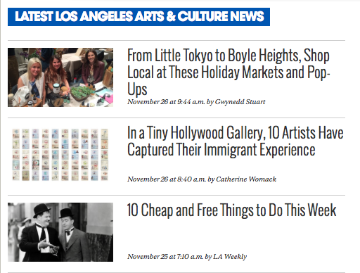 From LA Weekly's homepage