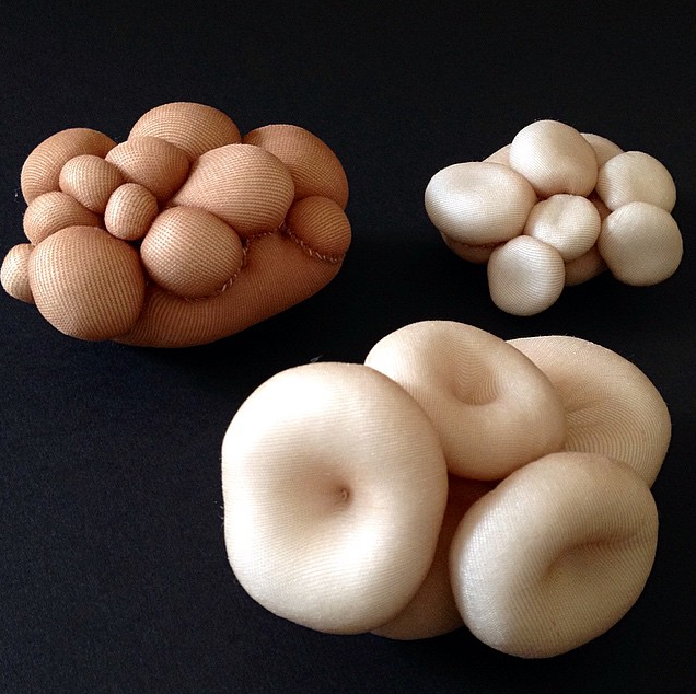 """Untitled"", from the Polymorph Series, 2015, nylon & fiberfill, dimensions variable"